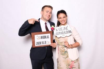 Fotokoutek na svatbě